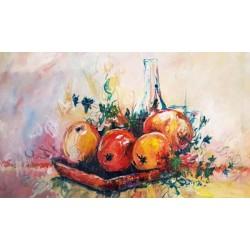 Nature morte pommes